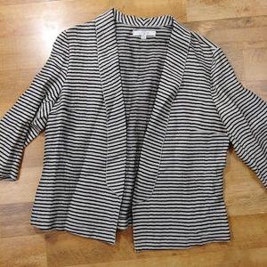 LOFT linen Blend Stripe blazer